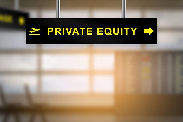 privatgelände equity-Schild am Flughafen – Foto