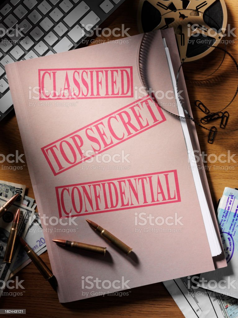 Private File in a Office royalty-free stock photo