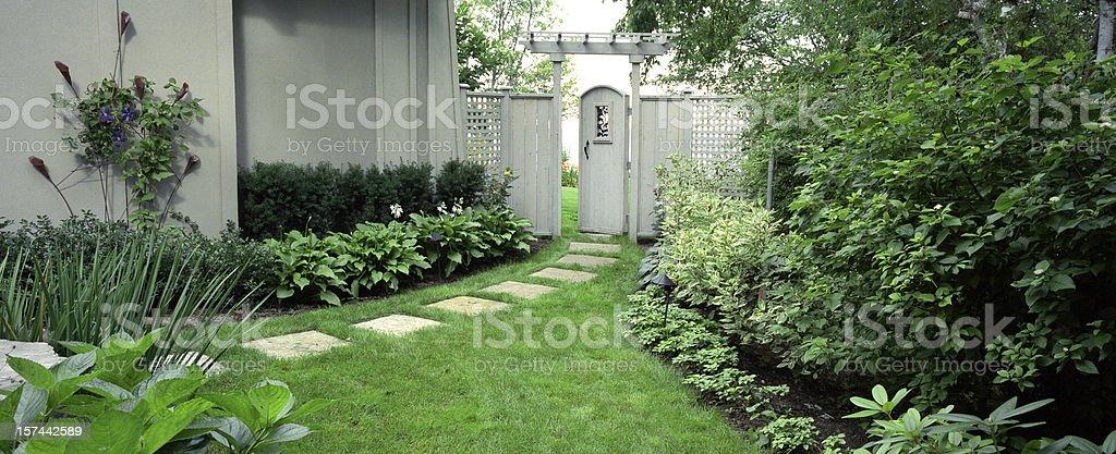 Private Garden stock photo