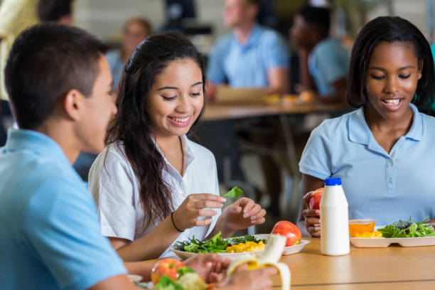 Private high school students eat a healthy lunch in cafeteria picture id641510074?b=1&k=6&m=641510074&s=612x612&w=0&h=amgynvik7k 1pnmg  tqedmubdnykysvzd  mdccjvy=