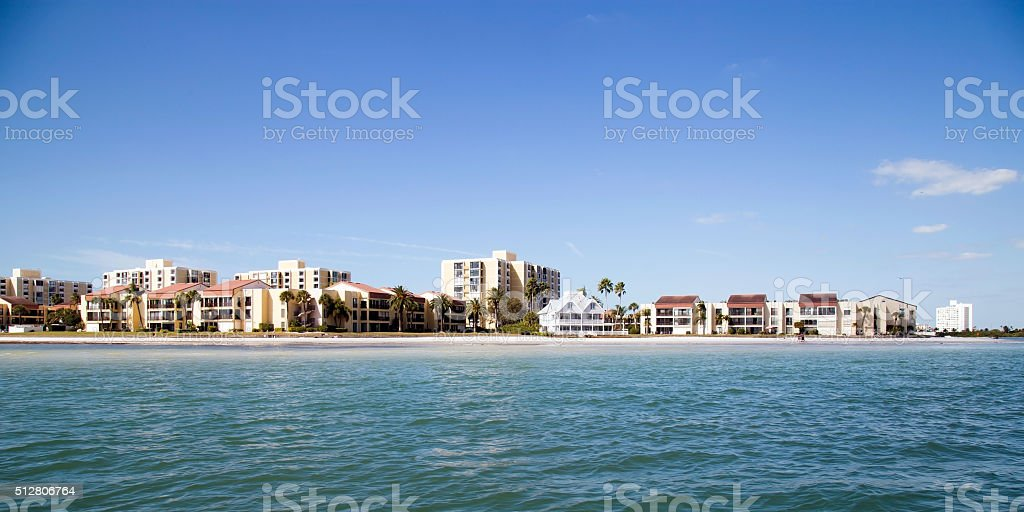 Private House At Clearwater Beach, FL stock photo