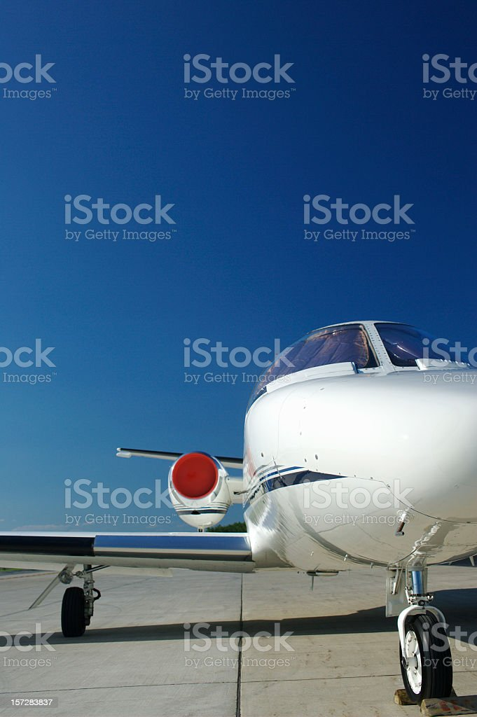Private Jet 01 royalty-free stock photo