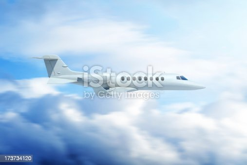 943681768 istock photo Private jet airplane in clouds 173734120