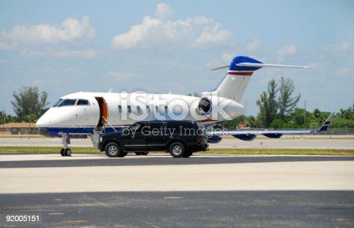 istock Private jet awaiting VIP 92005151