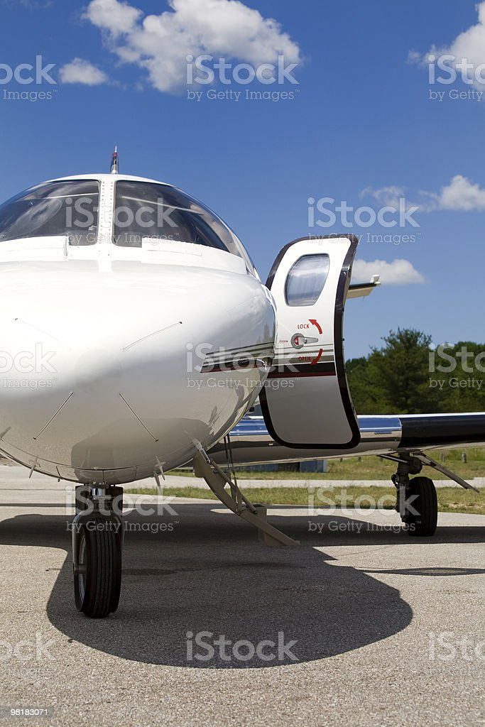 private jet front royalty-free stock photo