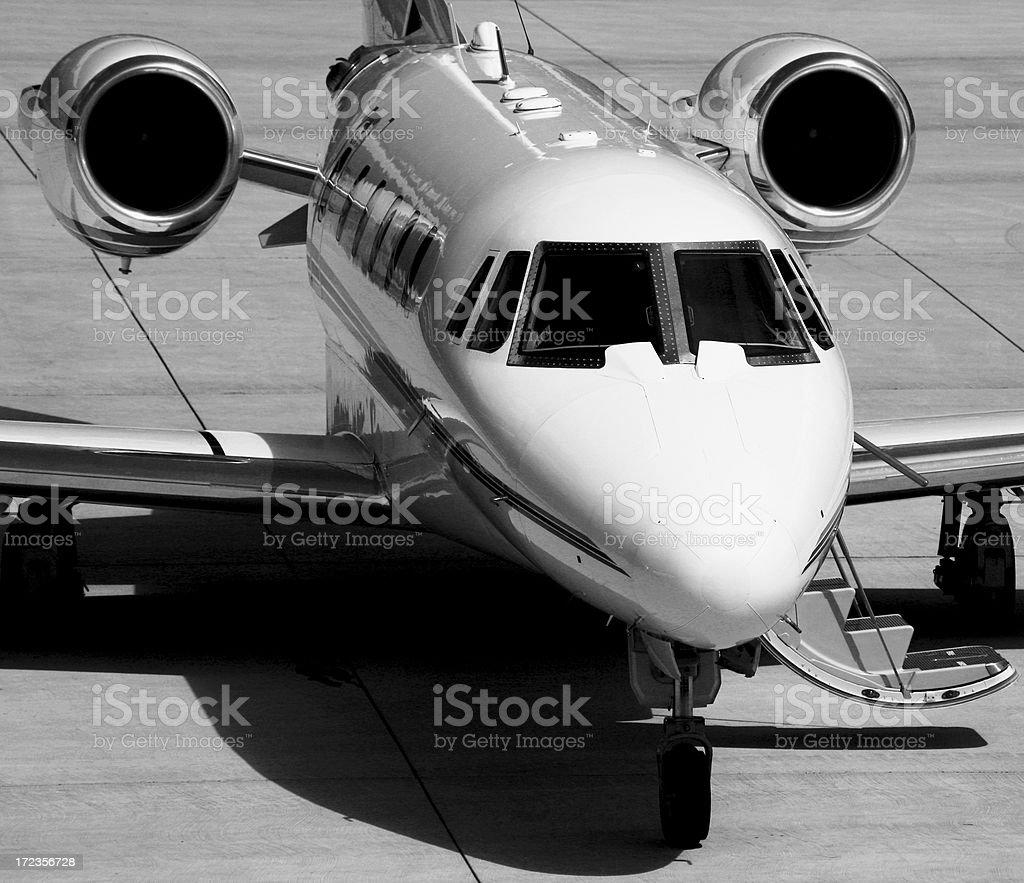 Private Jet - monochrome. royalty-free stock photo