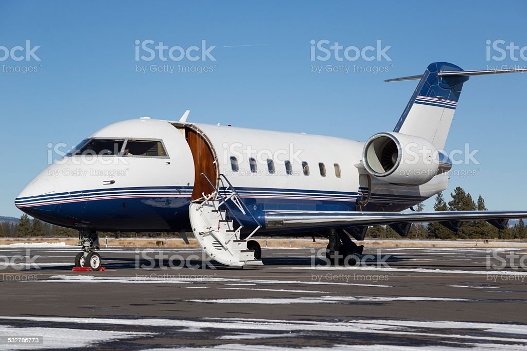 Private jet on airport tarmac with door open royalty-free stock photo & Private Jet On Airport Tarmac With Door Open Stock Photo u0026 More ...