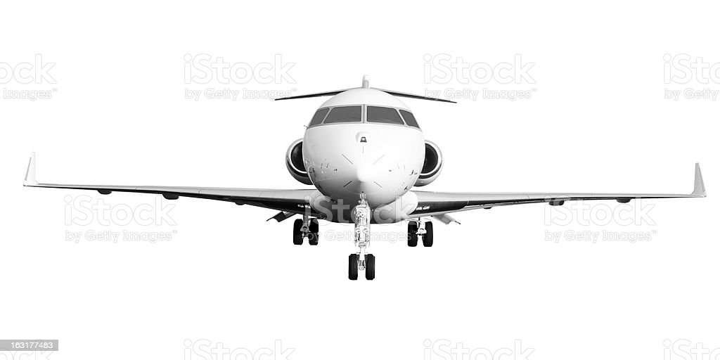 Private Jet Plane Isolated on White stock photo