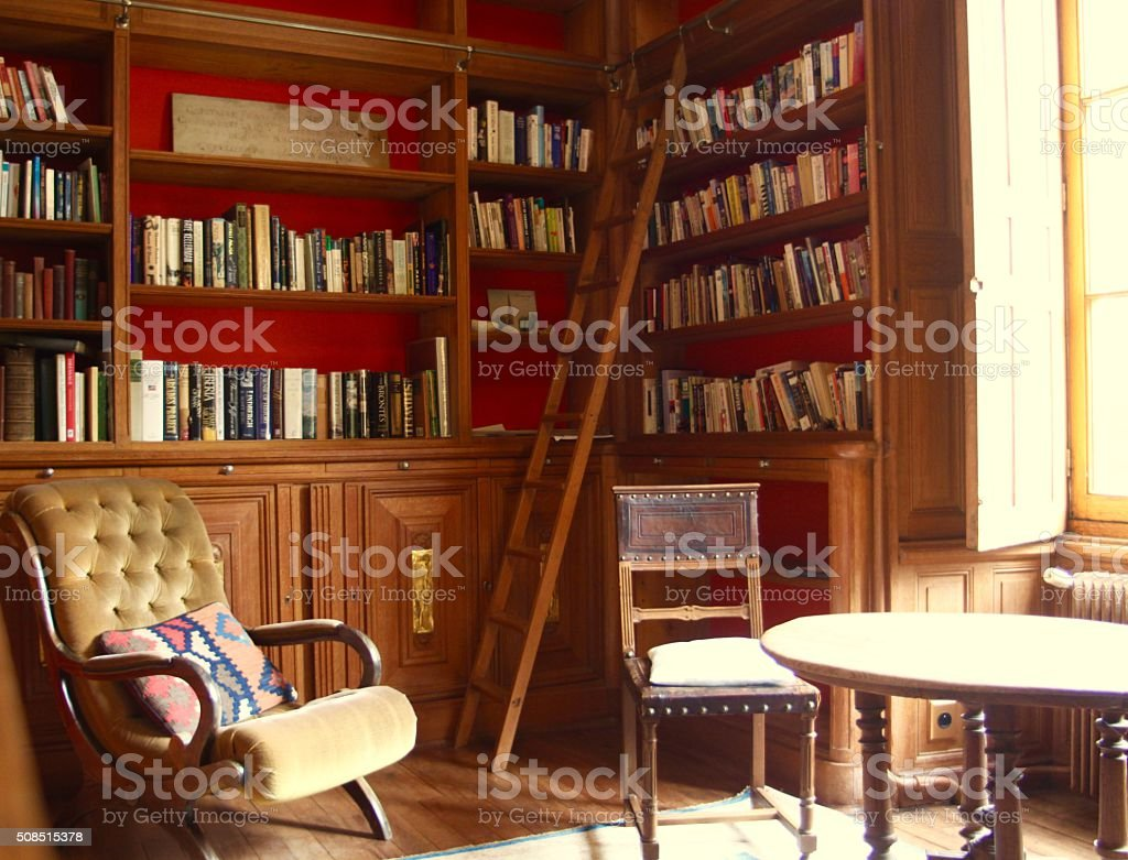 Private Library stock photo