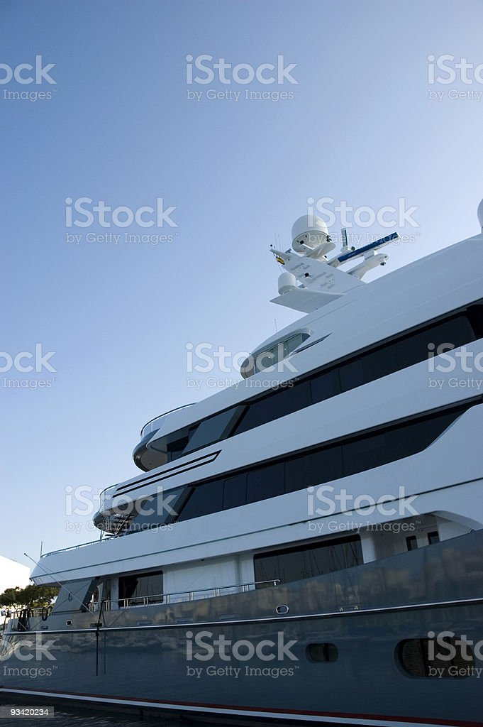 private luxury yacht royalty-free stock photo