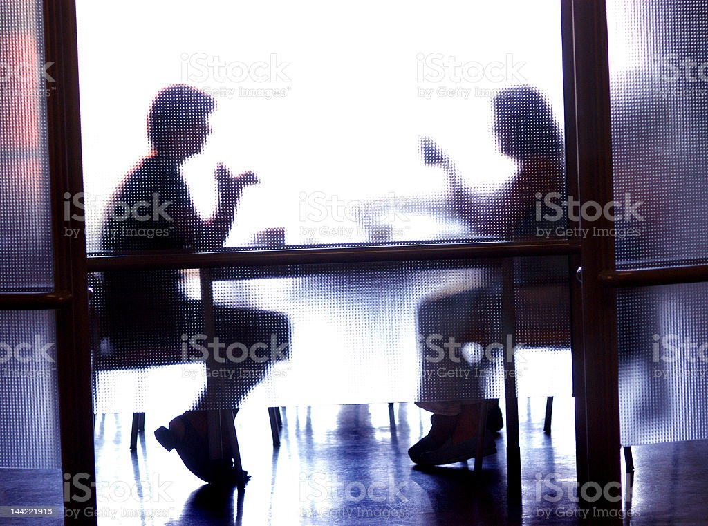 Private meeting stock photo