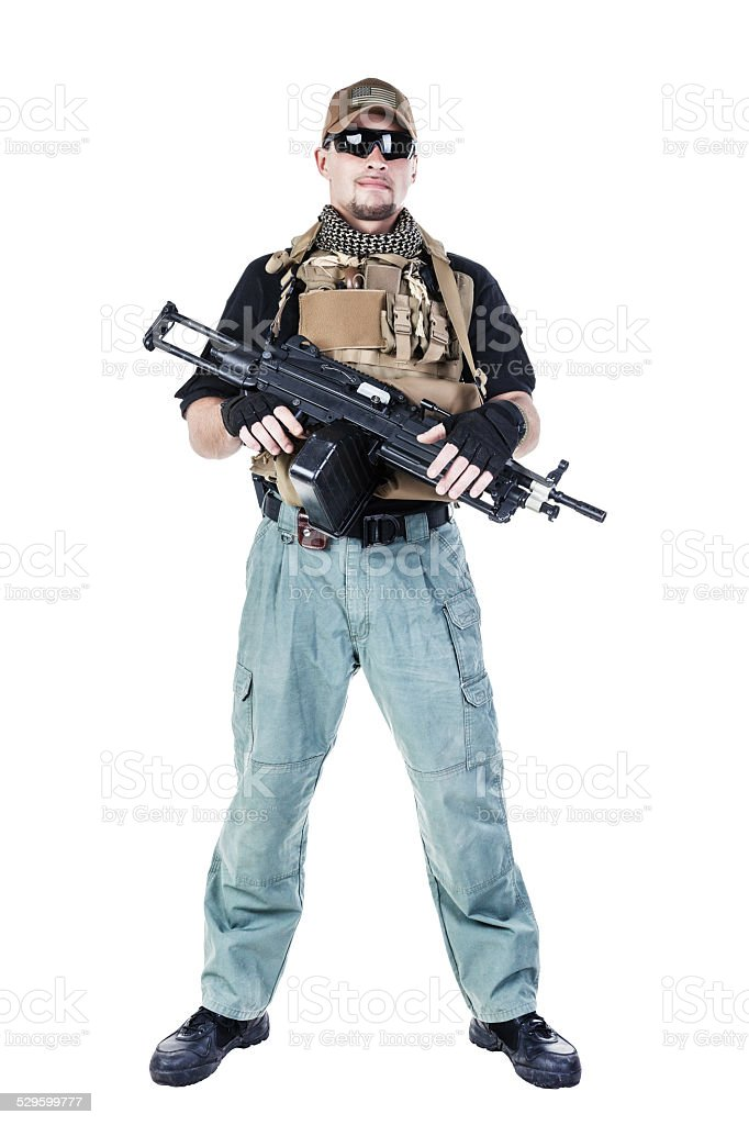 Private military contractor PMC stock photo
