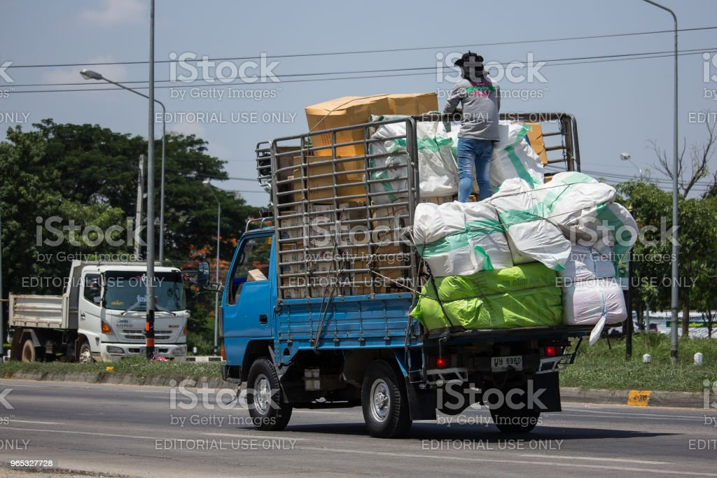 Private Mitsubishi Canter Cargo Truck royalty-free stock photo