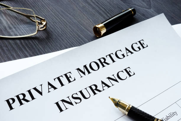 private mortgage insurance pmi form with pen. - organizzatore elettronico foto e immagini stock