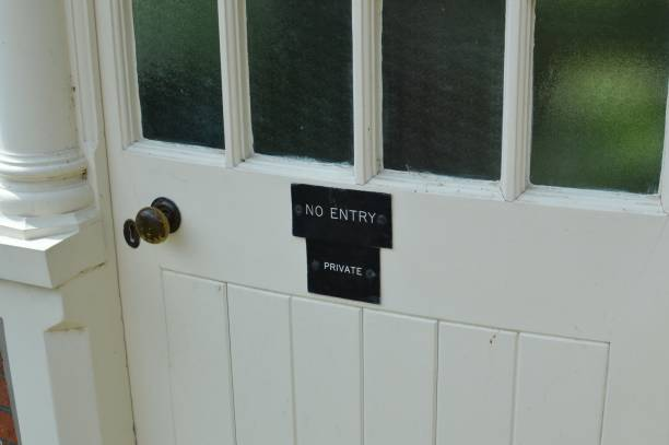 Private no entry sign. stock photo