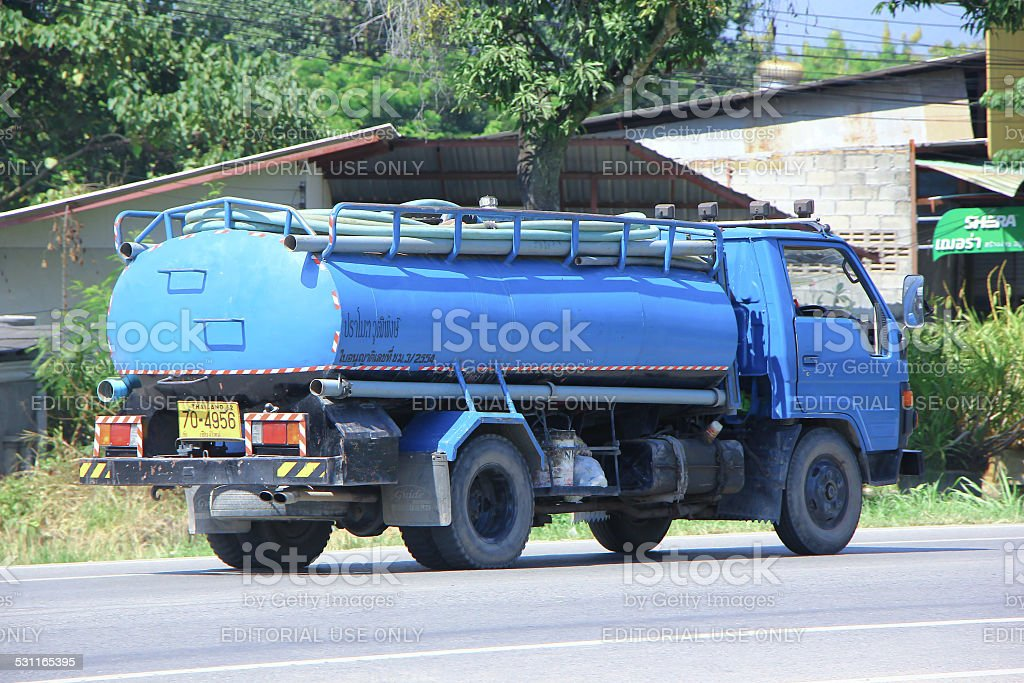 Private of Sewage truck stock photo