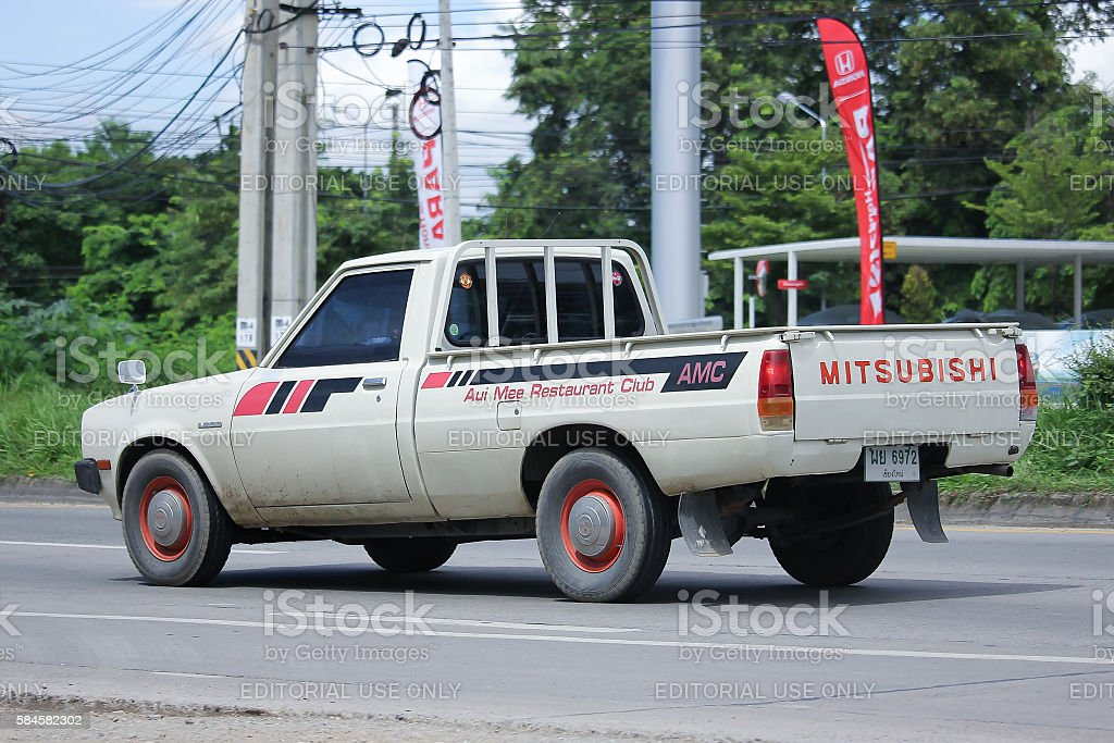 Private Old Pickup Car Mitsubishi L200 First Generation Stock ...