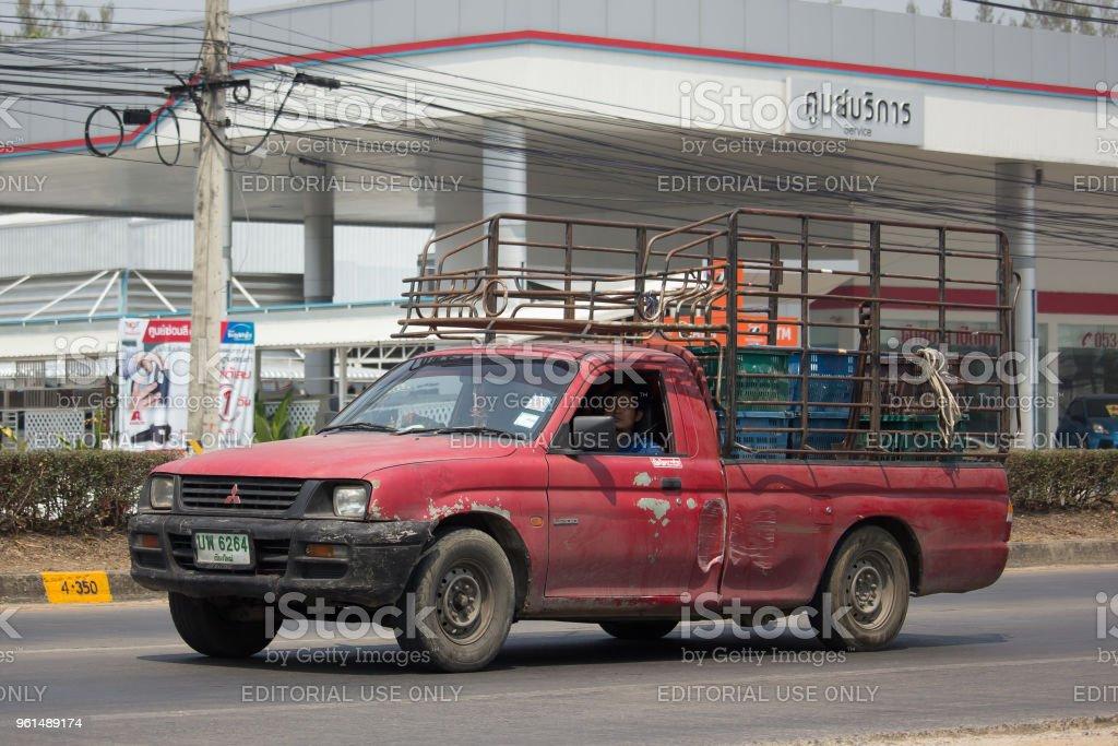 Private Old Pickup Car Mitsubishi Strada Royalty Free Stock Photo