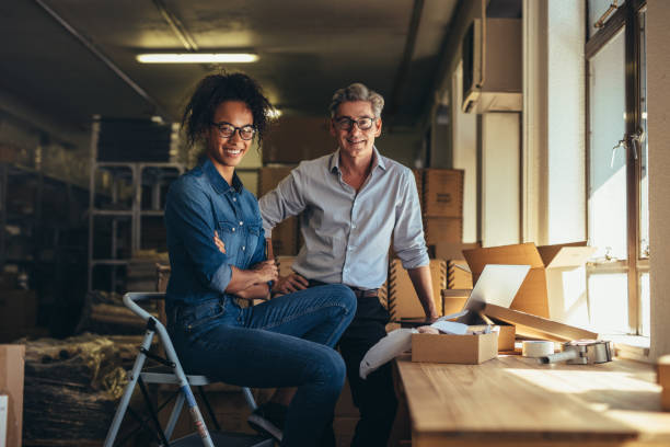 Private online business owners stock photo