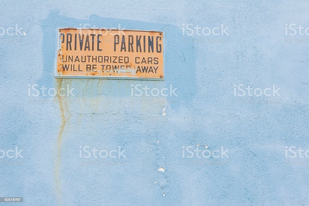 Private Parking royalty-free stock photo