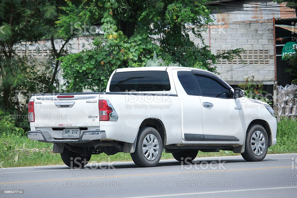 Private Pickup car, Toyota Hilux. royalty-free stock photo