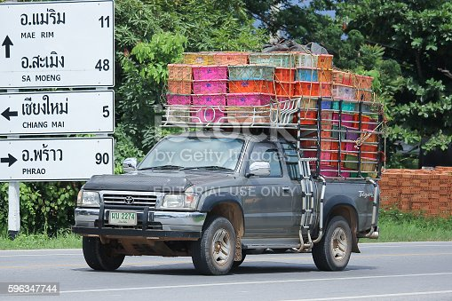 Private Pickup Car Toyota Hilux Stock Photo & More Pictures of Asia