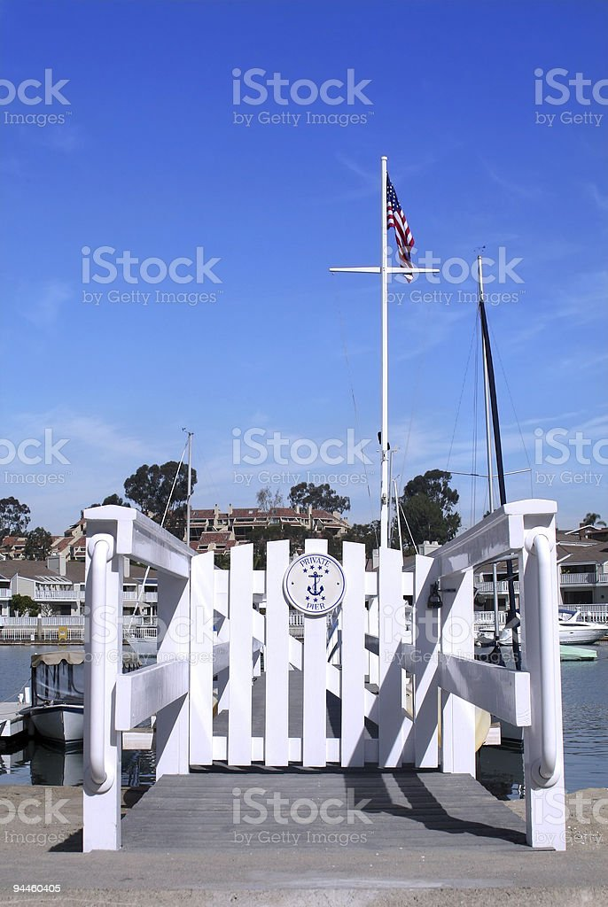 Private Pier at the beach - harbor stock photo