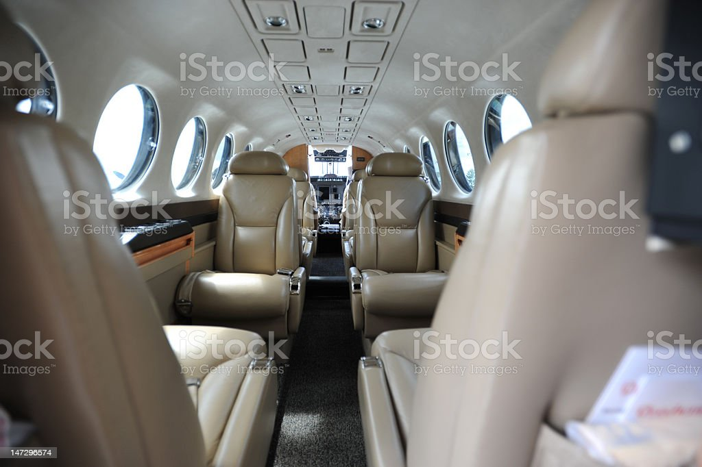 private plane interior royalty-free stock photo