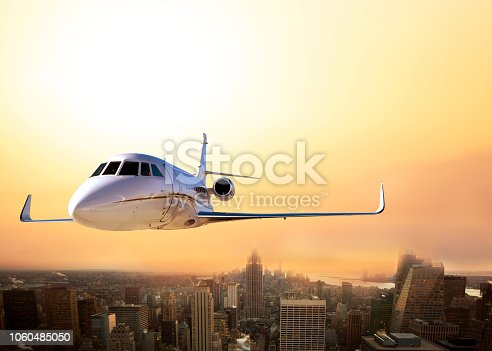 Private Plane is Flying on New York City
