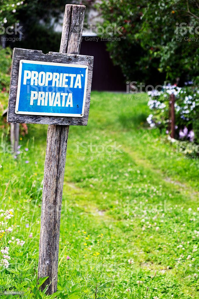 Private Property. Color Image royalty-free stock photo