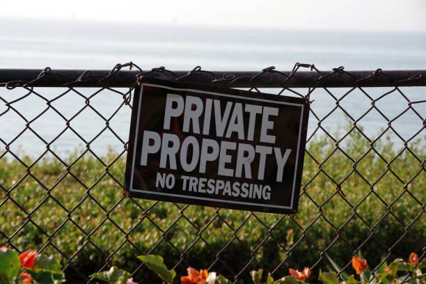 Private Property stock photo