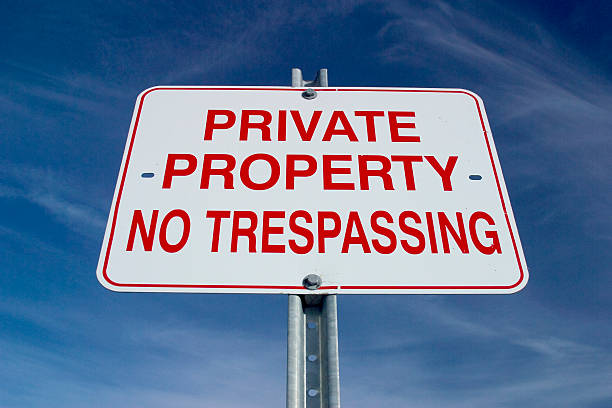 Private Property Sign stock photo