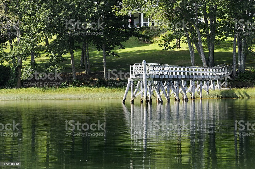 Private quay royalty-free stock photo