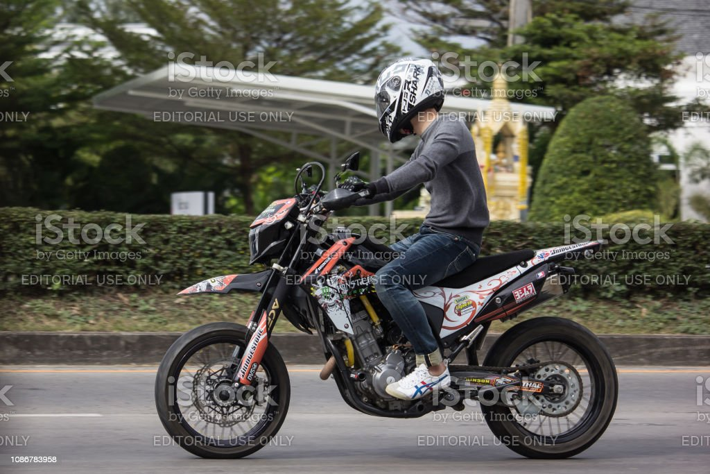 Private Racing Honda Motorcycle. Photo at road no.121 about 8 km from...
