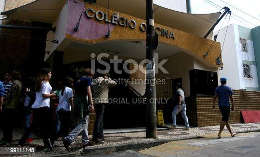 salvador, bahia / brazil - july 22, 2014: Students are seen