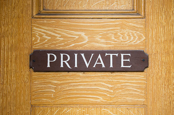 Private sign stock photo