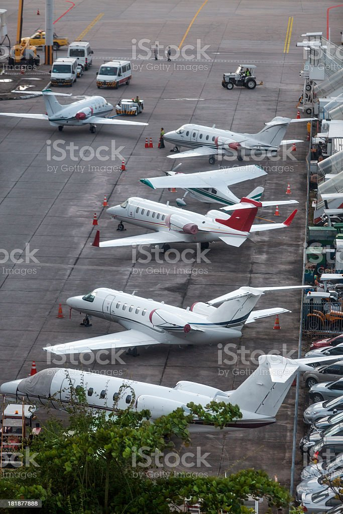 Private small airplanes royalty-free stock photo