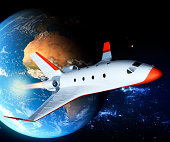 Private spaceship leaves the Earth
