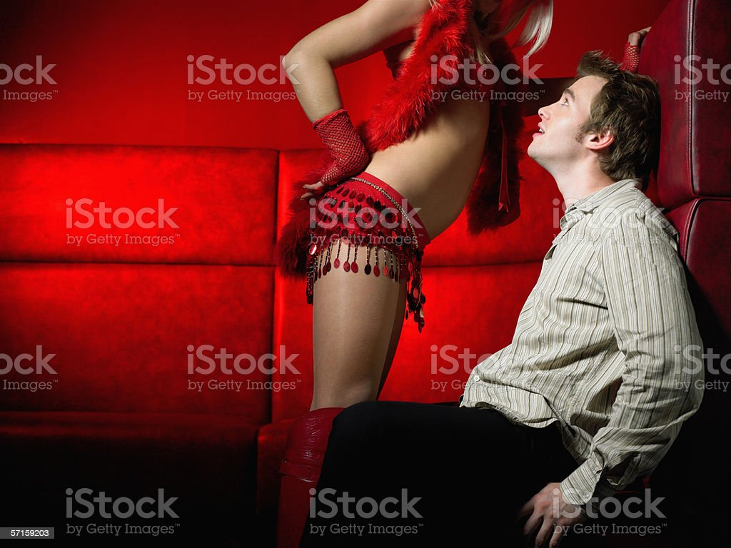 Private strip tease stock photo