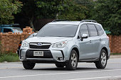 istock Private Suv car, Subaru Outback 1026052118