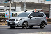 istock Private Suv car, Subaru Outback 1224618370