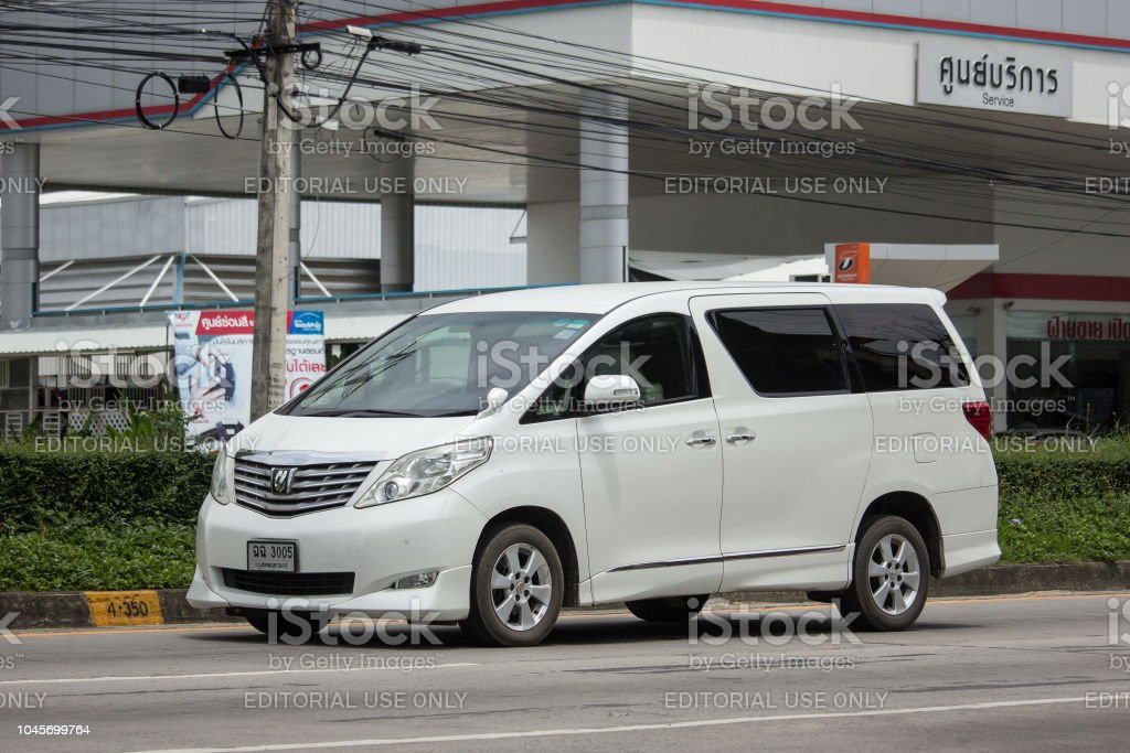 Private Toyota Alphard luxury  Van stock photo