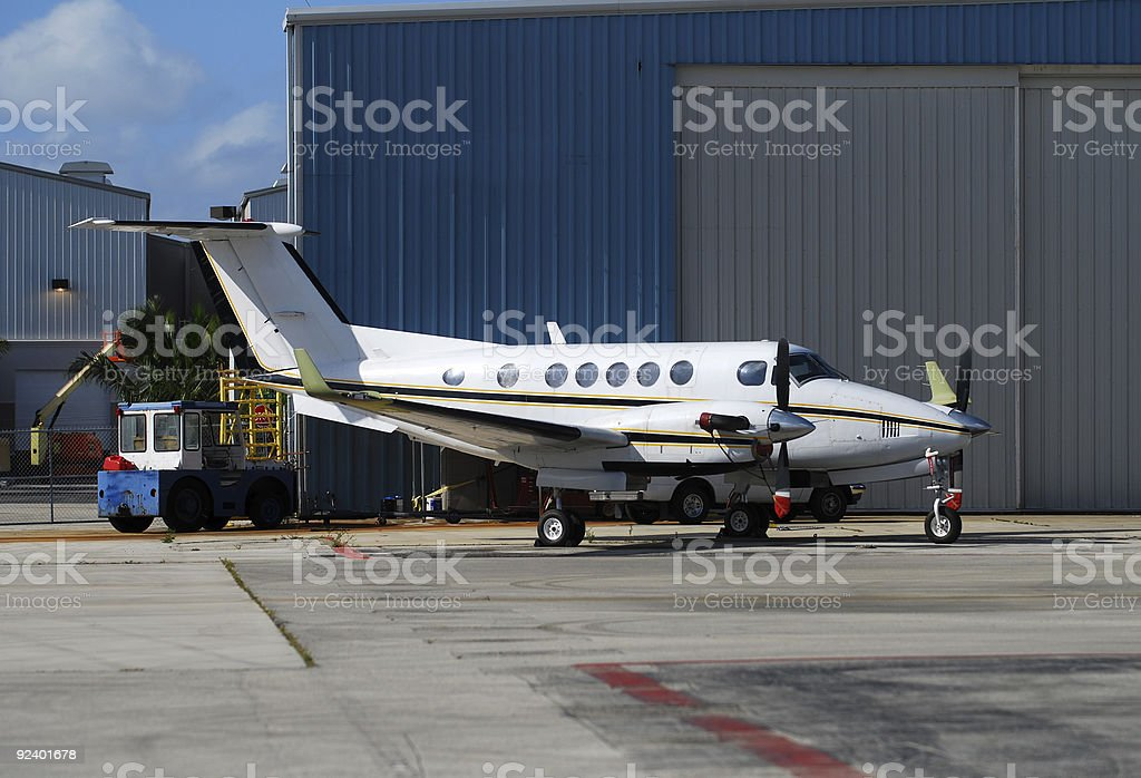Private twin engine turboprop stock photo