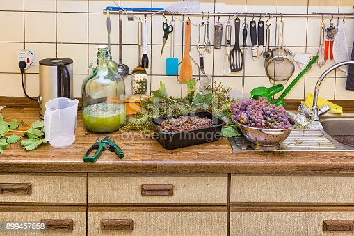 istock Private wine making in the kitchen 899457858