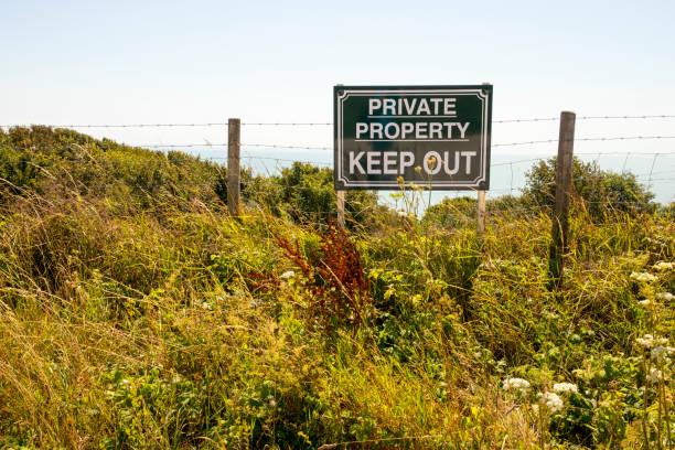 Privatgrundstück Privateigentum – Foto