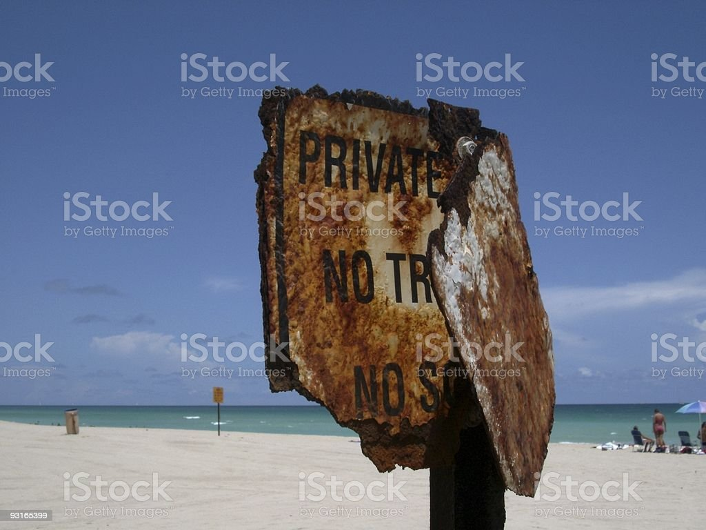 Priviate property royalty-free stock photo