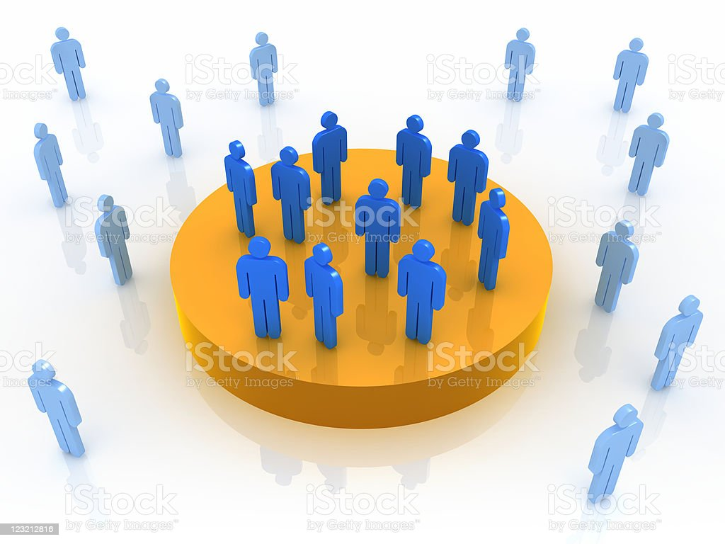 Privileged group royalty-free stock photo