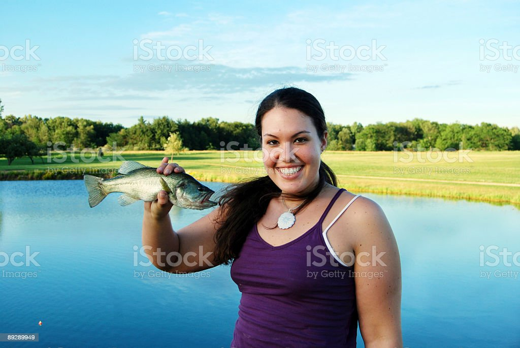 Prize Catch royalty-free stock photo