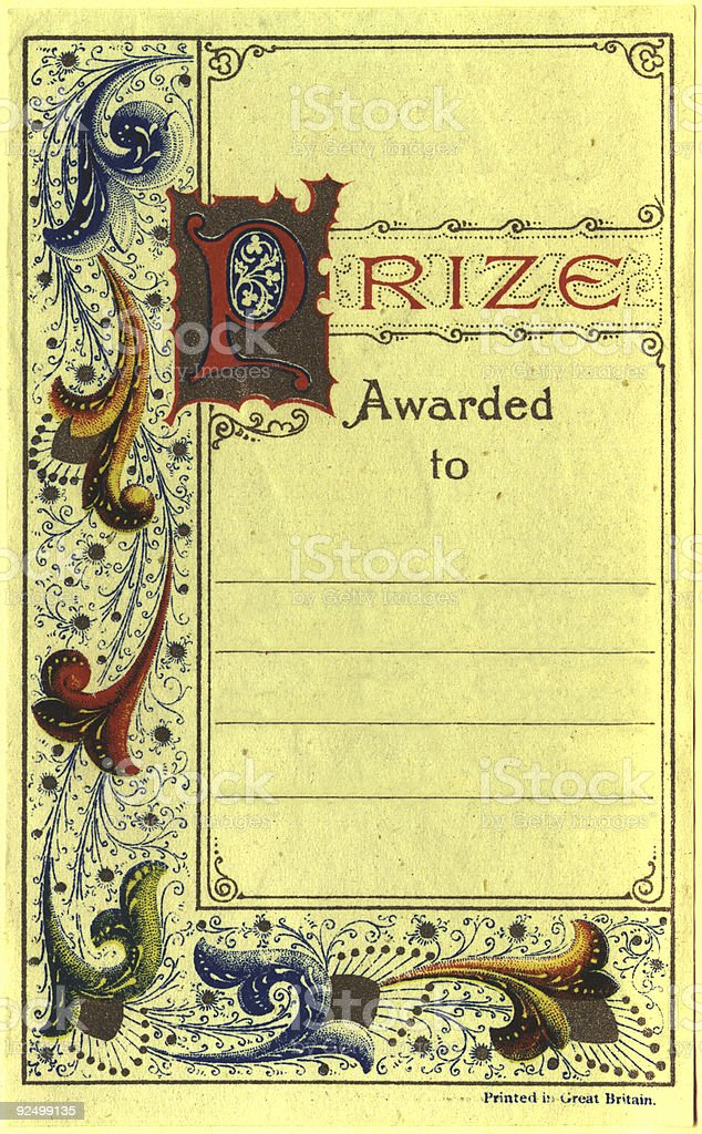 Prize certificate royalty-free stock photo