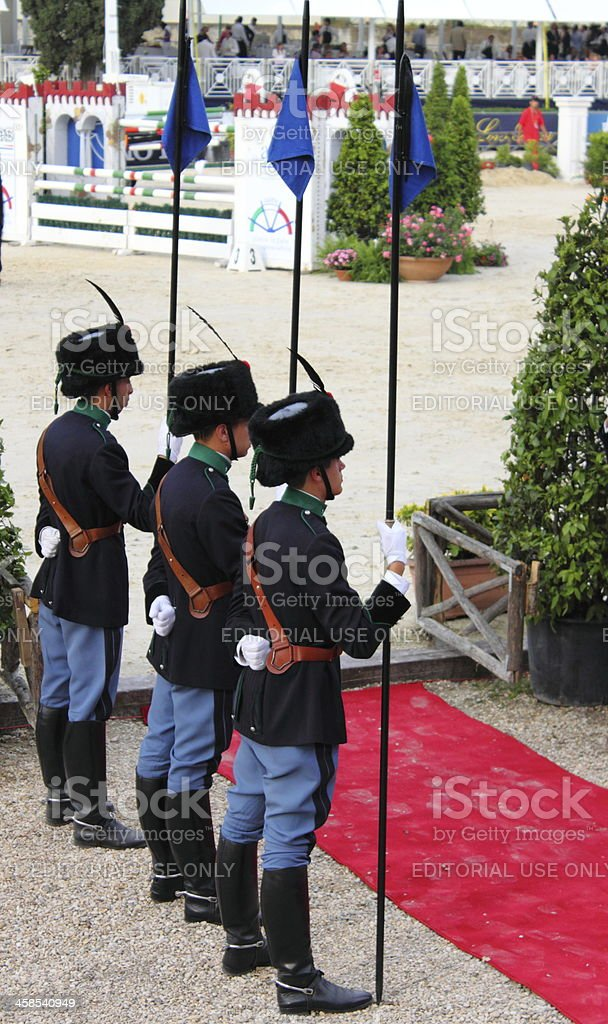 Prize giving ceremony at Piazza di Siena 2010 royalty-free stock photo